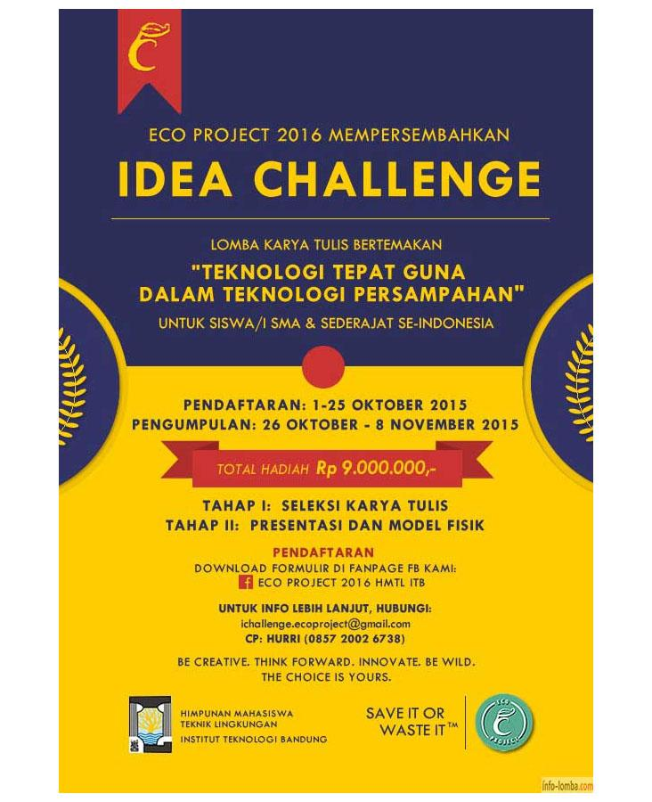 Idea Challenge Eco Project 2016