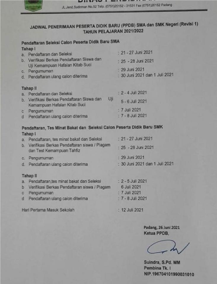 PPDB 2021 - SMAN 11 PADANG