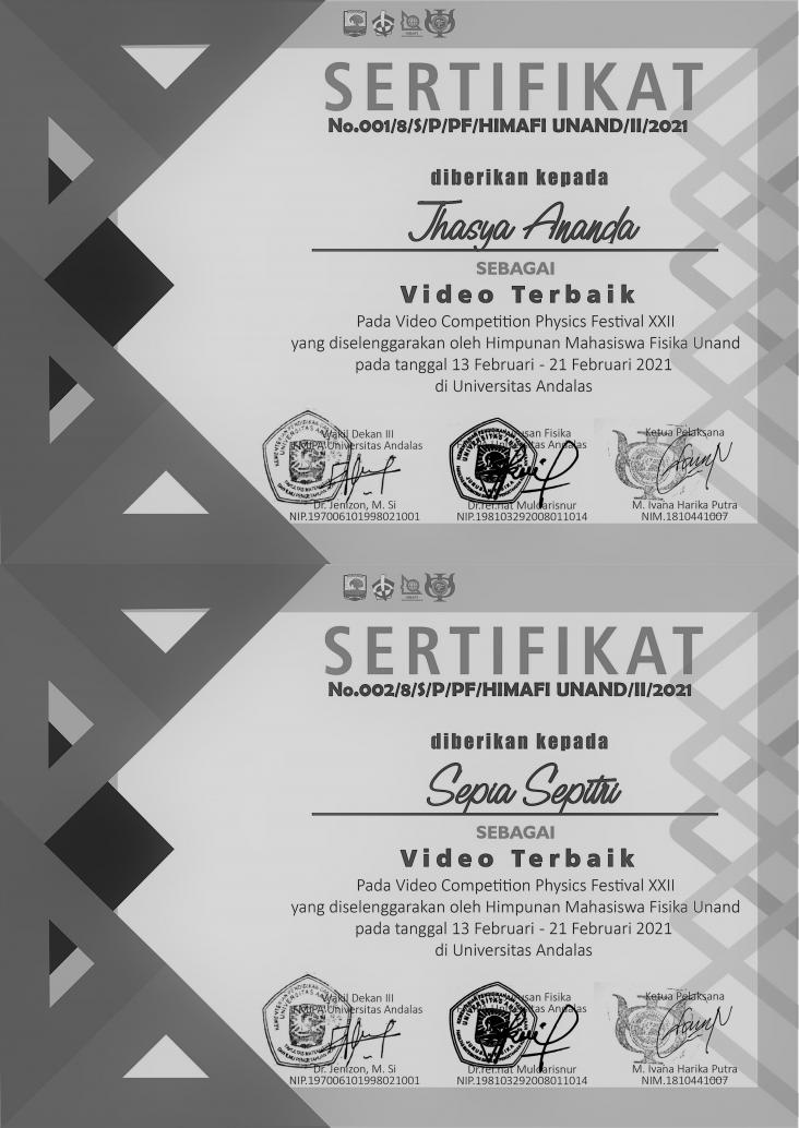 LOMBA PHYSICS EDUCATION VIDEO CONTEST One Minute to Share, One Minute to Study, Together...