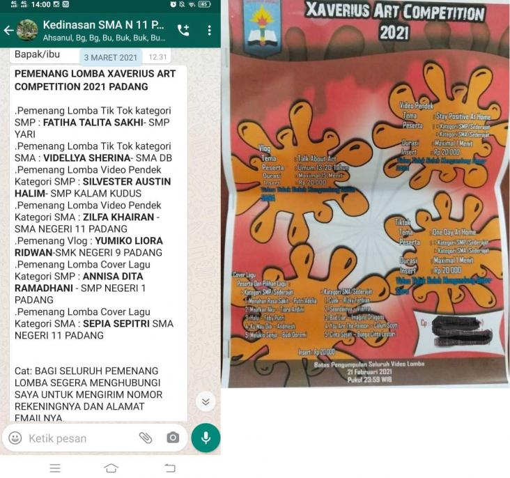 LOMBA XAVERIUS ART COMPETITION 2021 PADANG