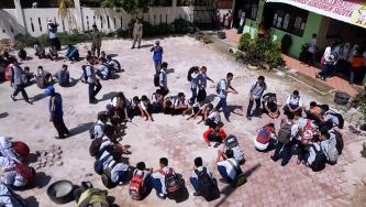 Kesiapsiagaan Siswa SMAN 11 Padang Hadapi Bencana di Kota Padang