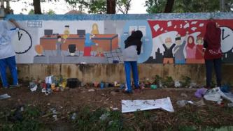 SMAN 11 Padang Ikut Lomba Mural Pelayanan Publik yang Digelar Ombudsman Sumbar