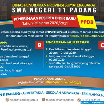 PENERIMAAN PESERTA DIDIK BARU (PPDB) SMAN 11 PADANG
